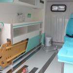 Ambulância Simples Remoção - vista interna