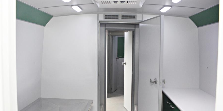 Hospital veterinário - vista corredor